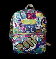 NWT Coach Limited Edition Poppy Pop C Multi Collectible Backpack Book Bag RARE!