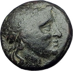 Aigai In Aeolis 2-1stcenbc Authentic Ancient Greek Coin Apollo And Goat I62263