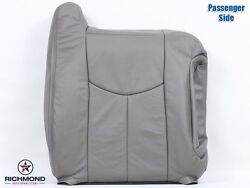 2004 2005 Chevy Avalanche 1500 -passenger Side Lean Back Leather Seat Cover Gray