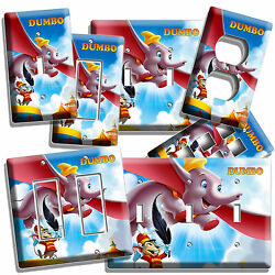 Dumbo Flying Elephant And Mouse Nursery Light Switch Outlet Plates Newborn Bedroom