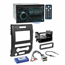 Planet Audio CD USB Bluetooth Stereo Dash Kit Amp Harness for 09-12 Ford F-150