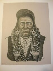Chief Joseph . By Native American Artist . Yatzie Dee Silver Eagle Ab857