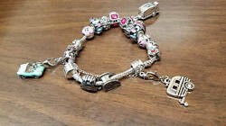 20-charms Travel Trailer Silver Rope Charm Bracelet Exclusively By Trailer Trash