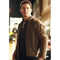 Jack Reacher Tom Cruise Brown Leather Jacket