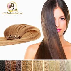 100 Real Indian Remy Weft Hair Extensions 18 20 22 24 Double Drawn 50g 100g