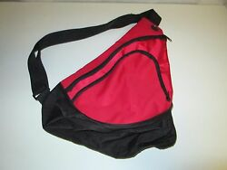 C Port And Company Red Zippered Shoulder Gym Duffle Bag Backpack
