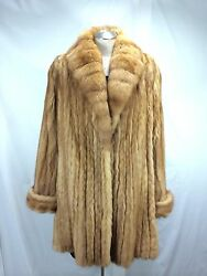 LADY REAL RUSSIAN GOLDEN SABLE LET OUT HALF COAT- LAVISH  LUXURY FREE SHIPPING