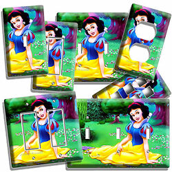 SNOW WHITE PRINCESS LIGHT SWITCH WALL PLATE OUTLET GIRLS BEDROOM PLAY ROOM DECOR