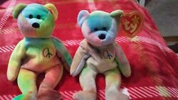 I Have Two Peace Beanie Babys. They Are Both Ty One Has Hang Tag And One Doesn't