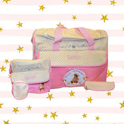Diaper Baby Multifunctional Boy Girl Set Bag Backpack For New Tote Mummy Pink