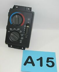 95-97 S10 S15 Blazer Sonoma Heater AC Climate Control Unit  TESTED GOOD     #A15