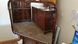 1930and039s American Chippendale Style Dresser With Mirror And A Highboy