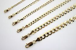 10k Authentic Solid Yellow Gold Cuban Chain For Men Women 2.5mm-10mm/1630