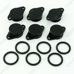 6x 32mm BLACK ALUMINIUM SWIRL FLAP REPLACEMENT + O-RING FOR BMW 5 SERIES NEW