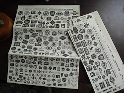 Lot Of 9 Vintage 1966 Jetco Ho Scale Sheets Gum Back Railroad Signs Look