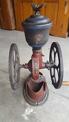 Original 1800and039s Elgin National Coffee Grinder/mill And Scoop