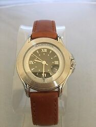 Mauboussin Brown Leather Automatic Swiss Made Men's Watch With Date