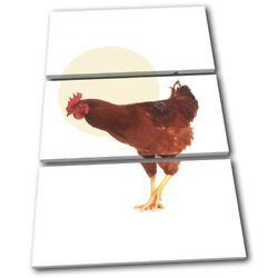 Chicken Farm Modern Abstract Animals Treble Canvas Wall Art Picture Print