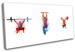 Crossfit Gym Fitness Lifting Sports Single Canvas Wall Art Picture Print