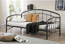 Metal Daybed Trundle Twin Size Daybed Frame Sofa Bed Frame Bronze