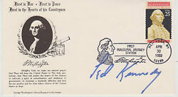 Signed Senator Ted Kennedy Fdc Autographed First Day Cover - Coa