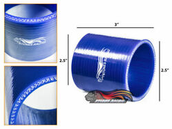2.5 Silicone Hose/intercooler Pipe Straight Coupler Blue For Nissan/datsun