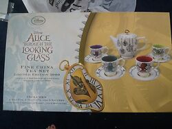 Disney Limited Edition Alice Through The Looking Glass Fine China Tea Set 3000