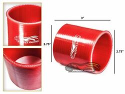 2.75 Silicone Hose/intercooler Pipe Straight Coupler Red For Jeep/land Rover