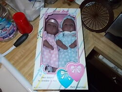 Nib 14 Tall Two Hearts Lissi Vinyl Doll Collection African American Twins