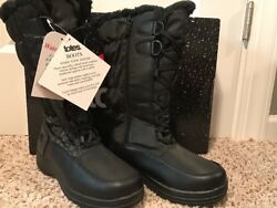 Women#x27;s Totes Waterproof Winter Snow Boots Size 7 Janis Black $44.99