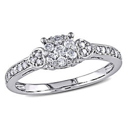 Amour 1/3 Ct Tw Diamond Engagement Ring In 10k White Gold