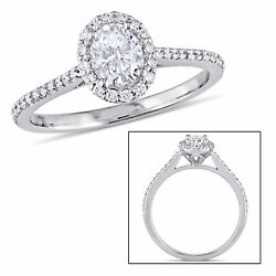 Amour 3/4 Ct Tw Diamond Halo Engagement In 14k White Gold