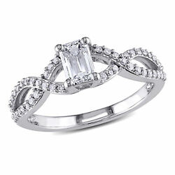 Amour 4/5 Ct Tw Diamond Twist Engagement Ring In 14k White Gold