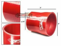 3 To 2.75 Silicone Hose/intake/intercooler Pipe Coupler Red For Suzuki /toyota