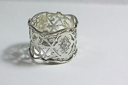 Pierced Sterling Napkin Ring Antique Joseph Rodgers And Sons 1916 Art Nouveau