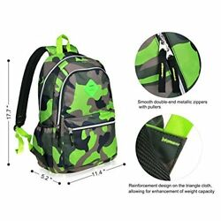 Green Backpack for Girls Boys for Middle School Cute Bookbag Outdoor Daypack Bag