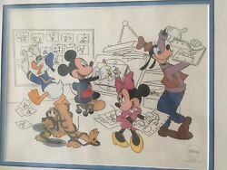 Disney Mickey Goofy At The Studio With The Fab Five Cel Limited Edition 7500