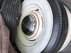 1940s-1950s Ford Bf Goodrich Silvertown Wheels Tires Hubcaps Set 5 6.50-16 4ply