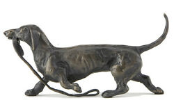 Sue Maclaurin Trotting Dachshund Solid Bronze Sculpture - Nelson And Forbes