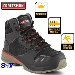5 Waterproof Work Boots Shoes Slip Oil Water Resistant Leather Ankle Height Cf