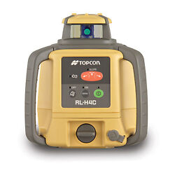 Topcon Rl-h4c Long Range Rotating Laser Level With Rechargeable Battery Pack