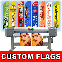 15and039 Regular Print Custom Swooper Advertising Flag Feather Banner + Pole And Spike