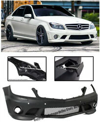 AMG Style Replacement Front Bumper Cover For 08-11 MB W204 C-Class Sedan W/ PDC