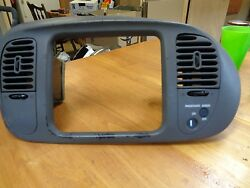 99-02 F150 Expedition Dash Radio Climate Control Bezel Housing Vents Trim