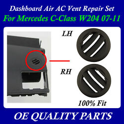 AC Air Vent Right & Left Set Dashboard AC DASH for Mercedes W204 2007 - 2011