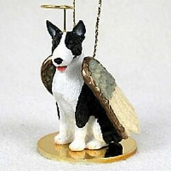 Bull Terrier Brindle Dog Angel Holiday Ornament Tiny Ones Figurine NEW