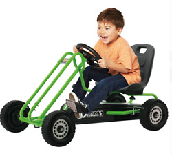 Toy Vehicle Kids Toddlers Go Kart Cart Racer Pedal Car Ride On Wheels Green Gift