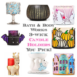 Bath Body Works 3 Wick 14.5oz Holder Sleeve Candle Sold Separately Ships Free