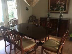 New Travis Court Collection By Drexel Buffet China Cabinet Table And Chairs