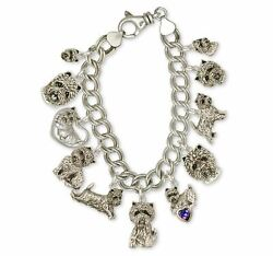 Westie Bracelet Jewelry Silver And Gold Handmade West Highland White Terrier Bra